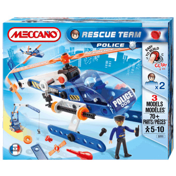 Rescue Team Police Helicopter