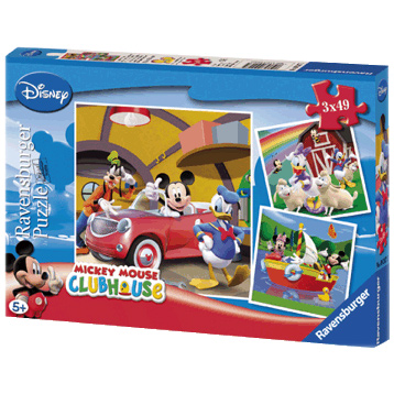 Mickey Mouse Clubhouse 3x 49 Piece Puzzle