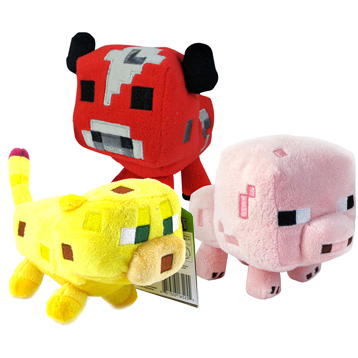 "Minecraft 7"" Soft Toy Animal Mobs"