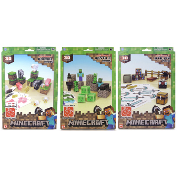 Minecraft Paper Craft 30+ Piece Set