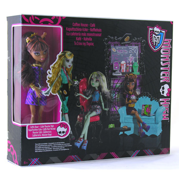 Monster High Coffin Bean & Clawdeen Wolf Playset