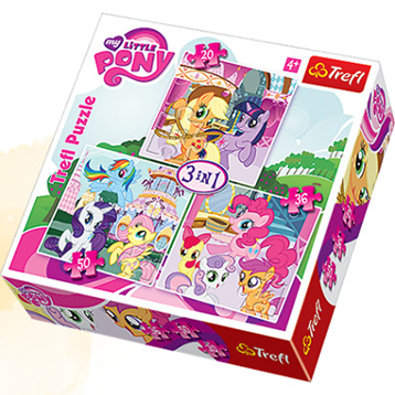 My Little Pony 3 in 1 Puzzle