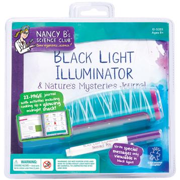Nancy B's Science Club Black Light Illuminator & Nature's Mysteries Journal
