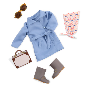 Retro Business Class Doll's Outfit