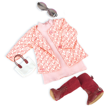 Retro Rosy Picture Doll's Outfit