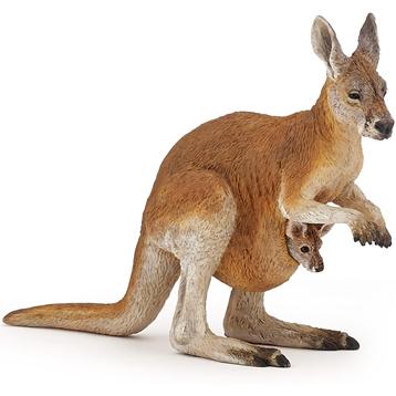 Female Red Kangaroo with Joey