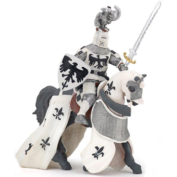 White Crested Knight & Horse