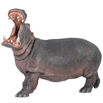 Wild Animal Kingdom Hippopotamus Bull Figure