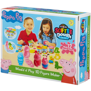 Cra-Z-Art Softee Dough Mould 'n' Play 3D Figure Maker