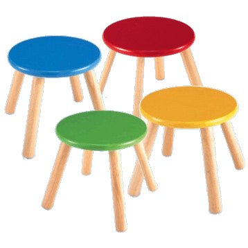 Coloured Wooden Stools