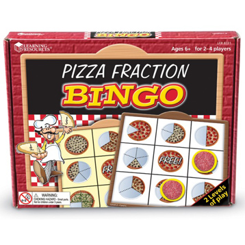 Pizza Fraction Bingo
