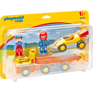 Racing Car with Transporter