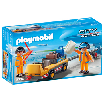 Aircraft Tug with Ground Crew