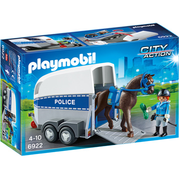 City Action Police with Horse & Trailer
