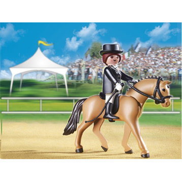 Dressage Horse with Stall