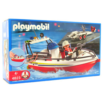 Fire Boat with Trailer 4823