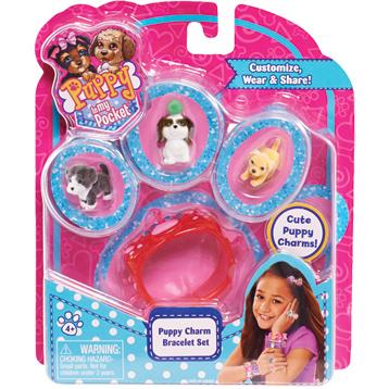 Charm Bracelet Set (3 Puppies)