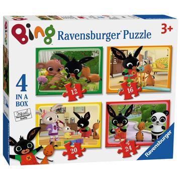 Bing Bunny 4 Puzzles in 1 Box