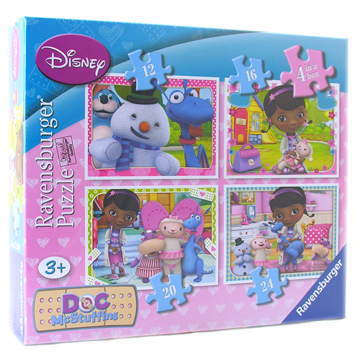 Doc McStuffins 4 in a Box Puzzles