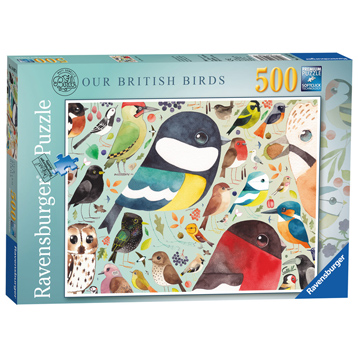 Our British Birds 500 Piece Jigsaw Puzzle