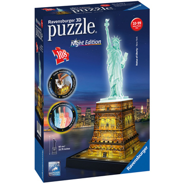 Statue of Liberty 3D Puzzle Night Edition (108 Piece)
