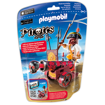 Playmobil Pirates Red Interactive Cannon With Buccaneer