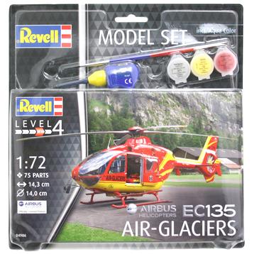 Airbus EC135 Air Glaciers Model Set (Level 4) (Scale 1:72)