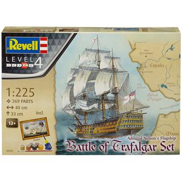Admiral Nelson's Flagship, Battle of Trafalgar Gift Set (Level 4) (Scale 1:225)