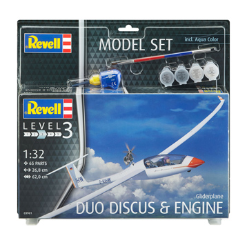Gliderplane Duo Discus & Engine Model Set