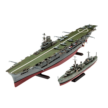 HMS Ark Royal & Tribal Class Destroyer