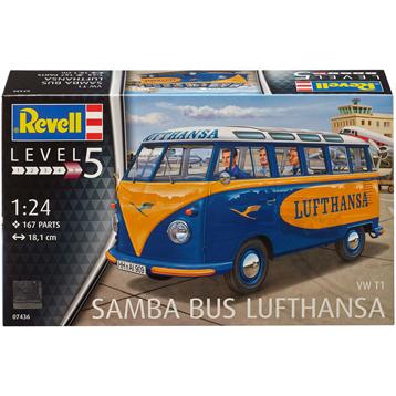 Volkwagen T1 Samba Bus Lufthansa (Level 5) (Scale 1:24)