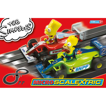 The Simpsons Micro-Scalextric (Scale 1:64)