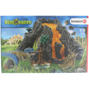 Giant Volcano with T-Rex