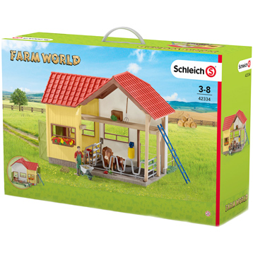 Barn with Animals and Accessories