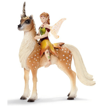 Female Elf on Forest Unicorn