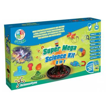 Super Mega Science Kit 8-in-1 (Blue Pack)