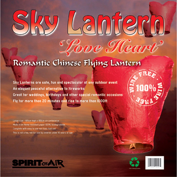 Sky Lantern Love Heart