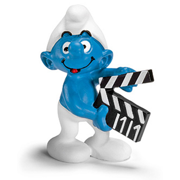 Smurf with Clapperboard