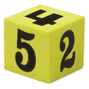 Soft Foam Number Dice (Set of 200)