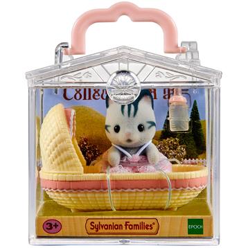 Baby Carry Case Grey Cat in Cradle