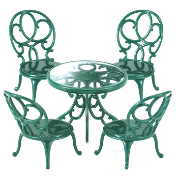 Ornate Garden Table & Chairs