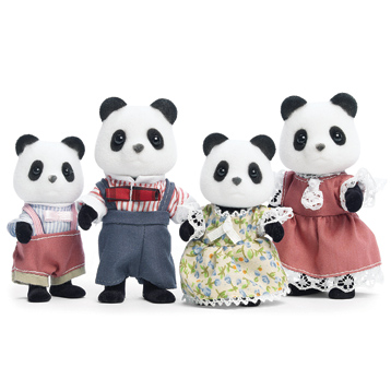 Panda Family Figures