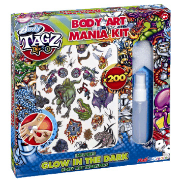 Body Tagz Body Art Mania Kit