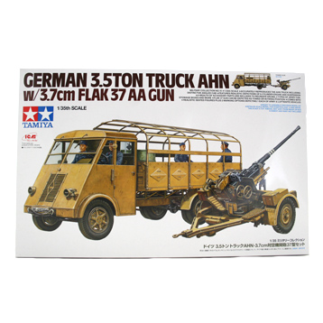 German 3.5 Ton Truck Ahn w/ 3.7cm Flak 37 AA Gun (Scale 1:35)