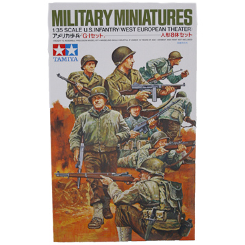 US Infantry Figure Set (West European Theater) (Scale 1:35)