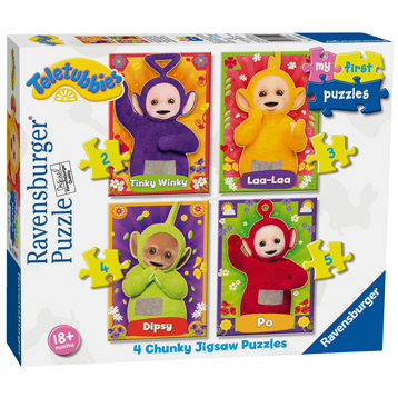 Ravensburger Teletubbies My First Puzzle Teletubbies 4 Chunky Jigsaw Puzzles