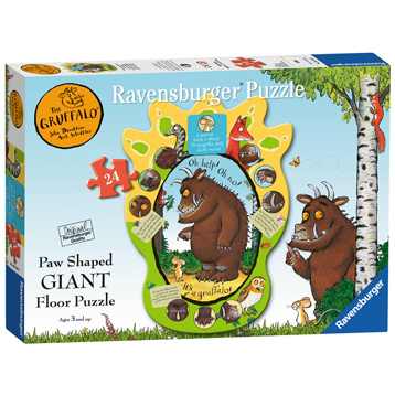 The Gruffalo 24 Piece Paw Shaped Giant Floor Puzzle