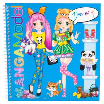 MangaModel Dress Me Up Sticker Book