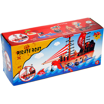 Toyland Wooden Pirate Boat Playset