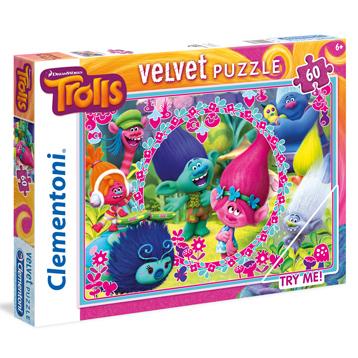 Trolls 60 Piece Velvet Jigsaw Puzzle